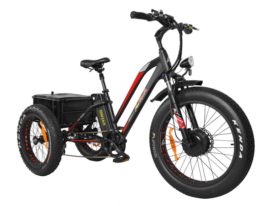 Addmotor MOTAN M350 P Fat Tire Electric Cargo Trike - Electric Bike & Skate