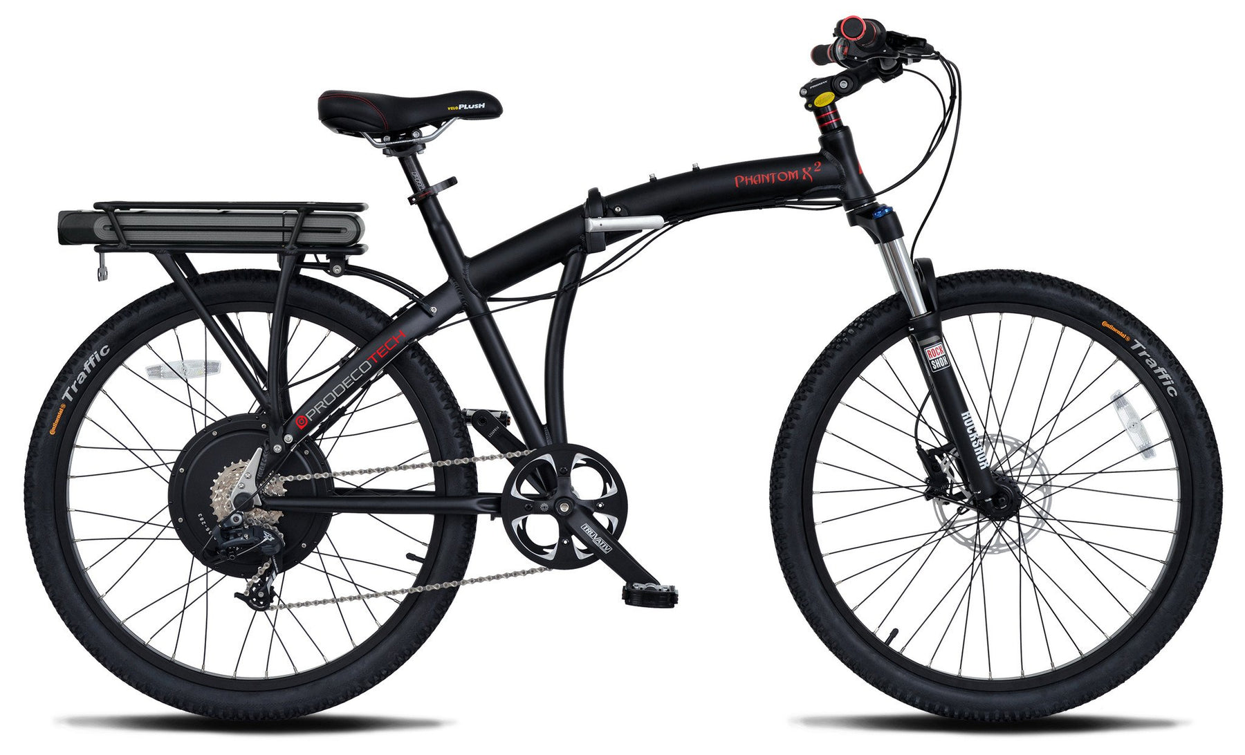 ProdecoTech Phantom X2 400W Electric Folding Bike - Electric Bike & Skate