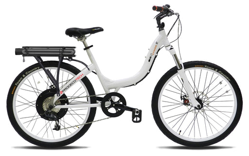 ProdecoTech Stride 500 White Electric Mountain Bike - Electric Bike & Skate
