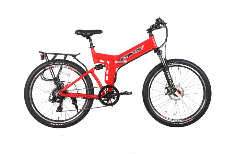 X-Treme X-Cursion Elite Folding Electric Mountain Bicycle - Lithium Powered - Electric Bike & Skate