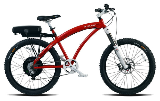 ProdecoTech Outlaw 1200 Red Electric Mountain Bike - Electric Bike & Skate