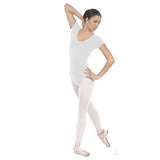 10475P Plus Size Classic Short Sleeve Cotton Leotard - 3X, 4X
