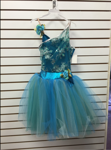 Blue Tutu Dress - Medium Adult