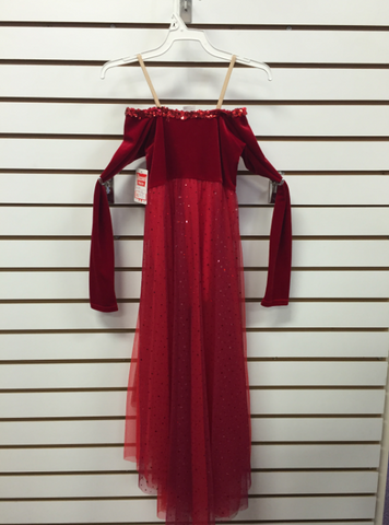 Long Sleeve Red Dress - Medium Child