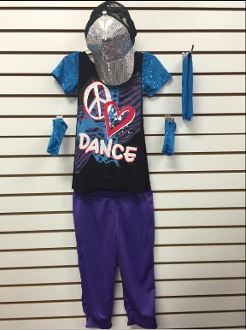 """Peace & Love Dance"" Hip-Hop Costume - Medium Child"