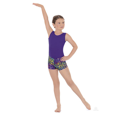 31535C Child Disco Leopard Shorts