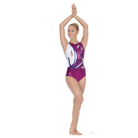 32012 Adult Peacock Gymnastics Leotard