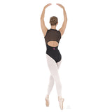 33519 Adult Zipper Front Mesh Back Leotard