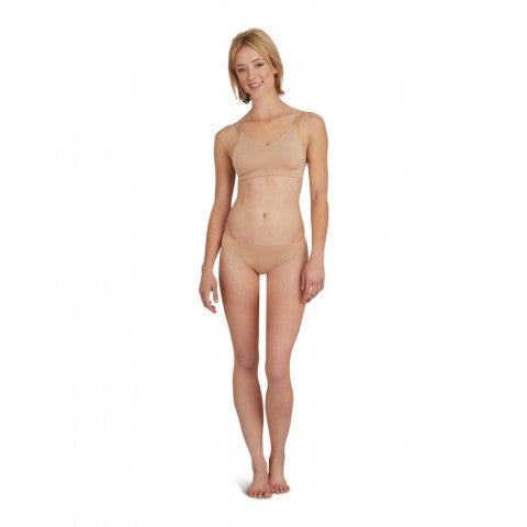3683  Seamless Overs & Unders Adult Clear Back Bra w/Nude & Clear Strp