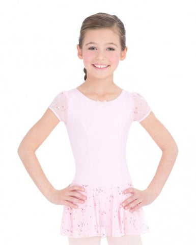 3948c   Capezio® Children's Collection Sequined Puff Sleeve Dress