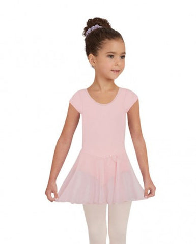 3966c   Capezio® Children's Collection Short Sleeve Nylon Dress