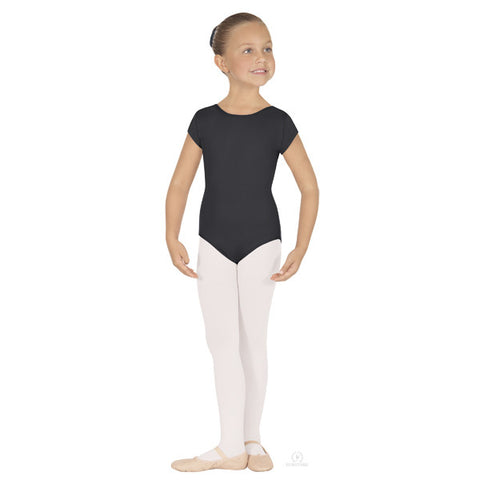 44475C Child Classic Short Sleeve Microfiber Leotard