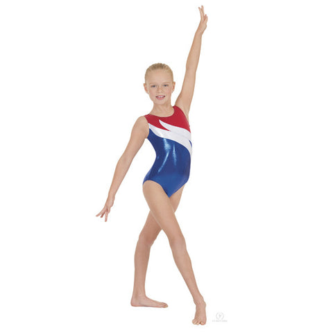 58897 Child Liberty Flame Gymnastics Leotard