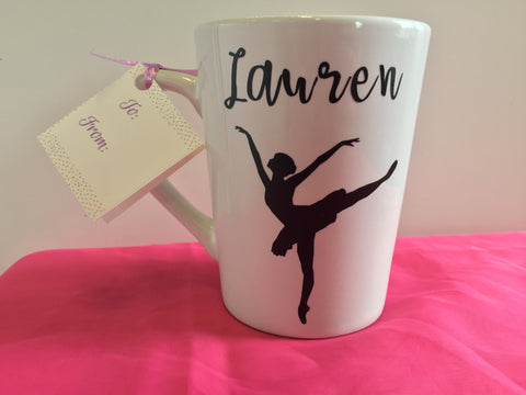 Custom Dance Silhouette 14 oz. Mug