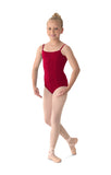 M207C Children's Seamed Cotton Camisole Leotard
