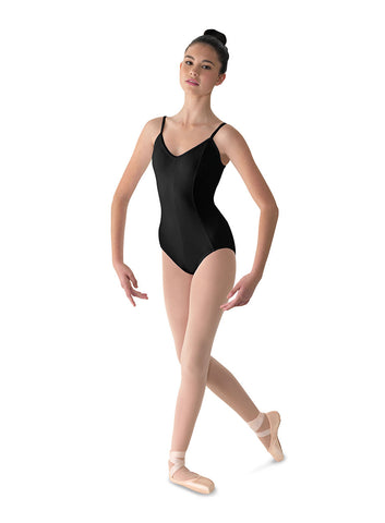 M207LD Ladies Seamed Microfiber Camisole Leotard