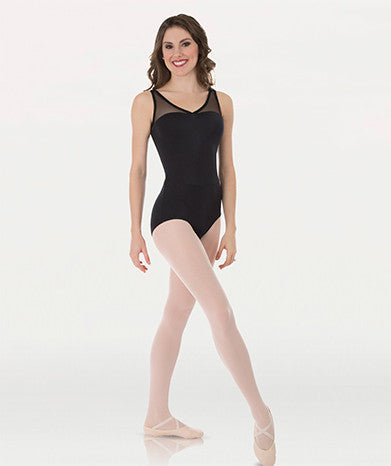 Body Wrappers P1001 Tween Power Mesh Yokes Leotard