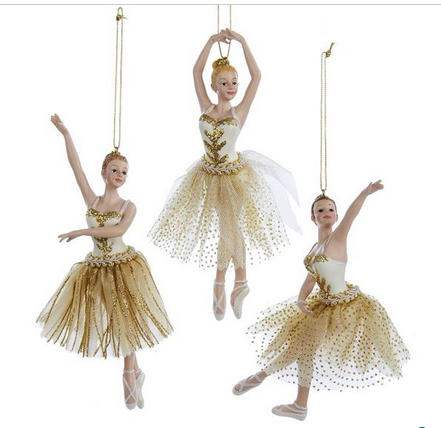 C8964 Glittered Ballerina Ornament