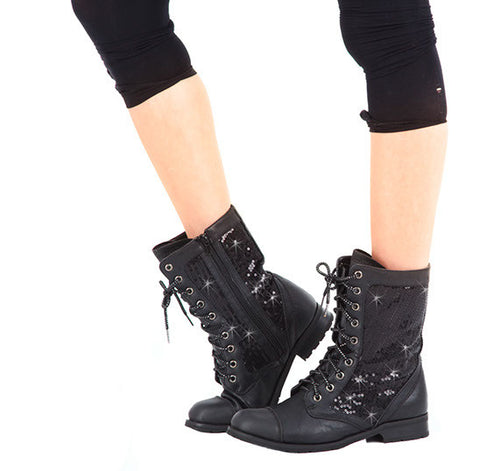 GS3A Adult Combat Sequin Boot