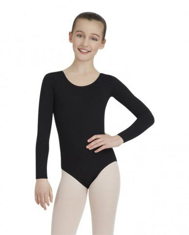 TB134c  Capezio® Team Basics Children's Long Sleeve Leotard