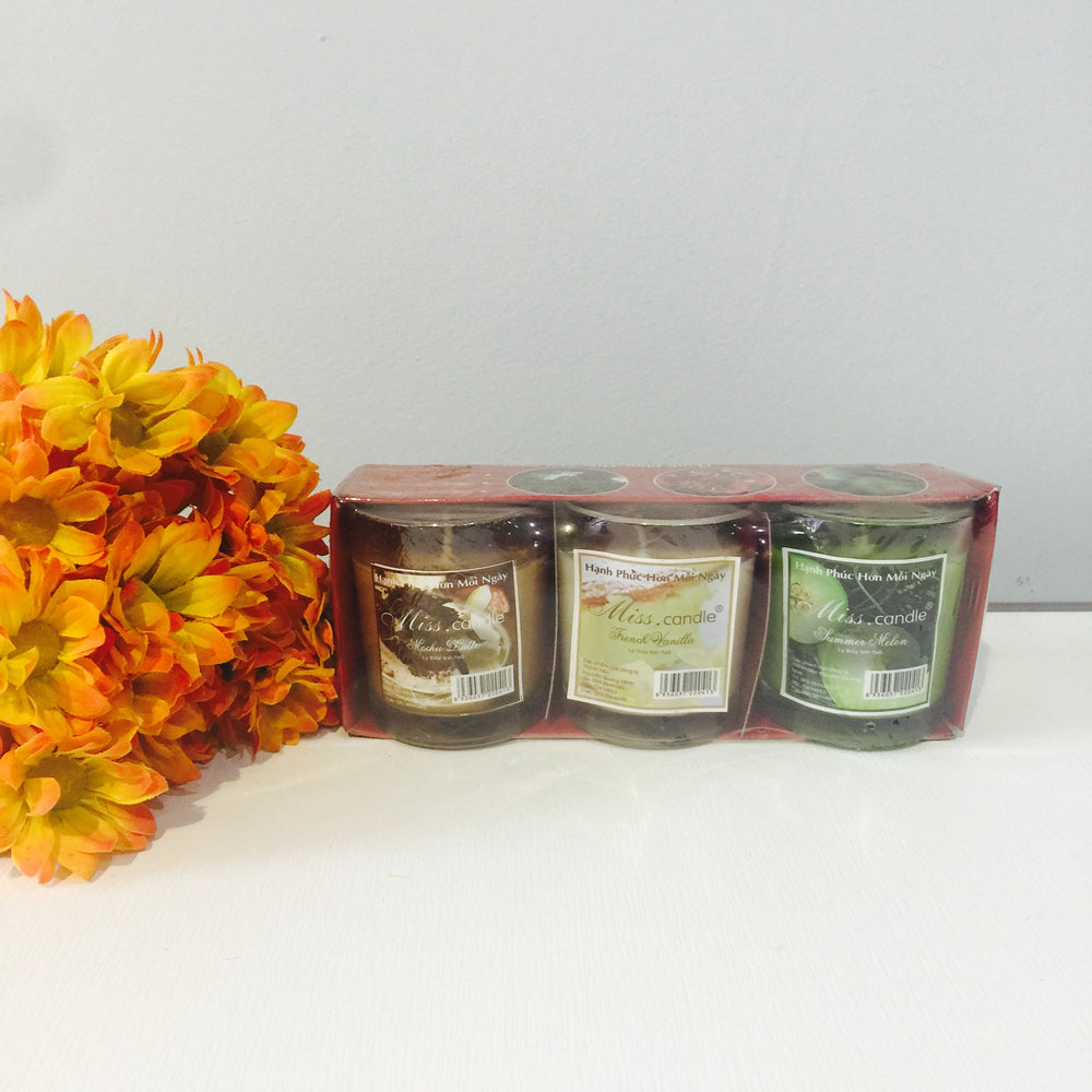 Hộp 3 Ly Nến Thơm Miss Candle - CAD0917009