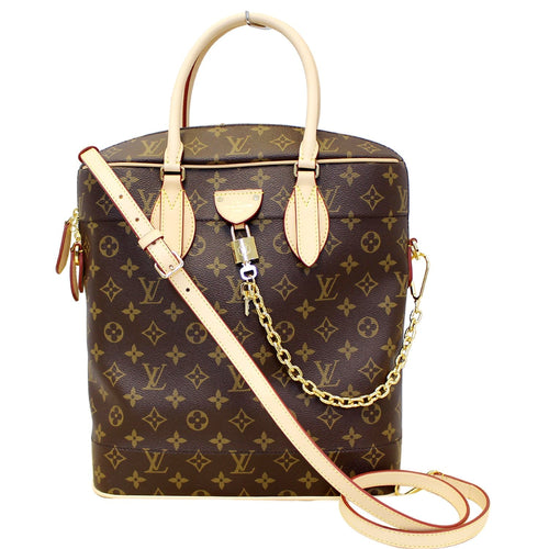 LOUIS VUITTON Carry All MM Monogram Canvas Shoulder Bag Brown