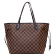 Louis Vuitton Neverfull MM Damier Ebene Tote Bag Brown