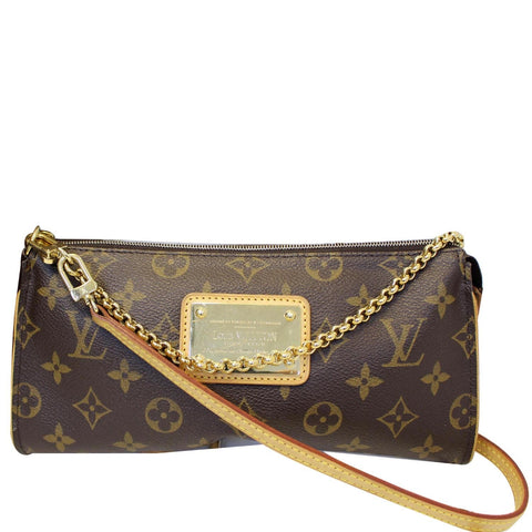 LOUIS VUITTON Sophie Monogram Canvas Clutch Crossbody Bag Brown