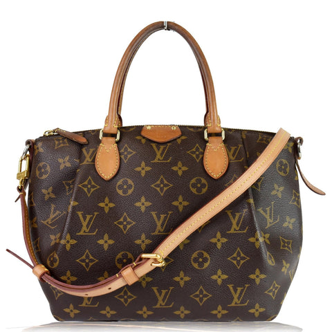 LOUIS VUITTON Turenne MM Monogram Canvas 2 Way Shoulder Bag Brown