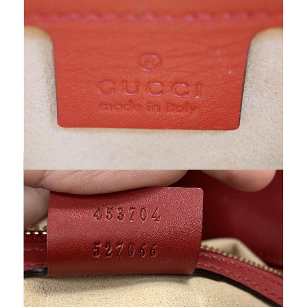 GUCCI Guccissima Leather Top Handle Bag Red 453704