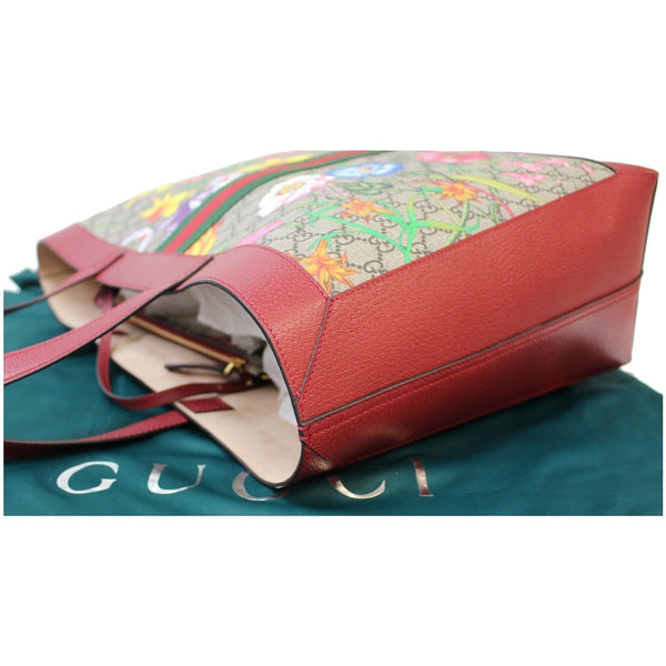 Gucci Ophidia GG Flora Medium Tote Satchel Bag Red