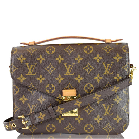 LOUIS VUITTON Metis Pochette Monogram Canvas Crossbody Bag Brown