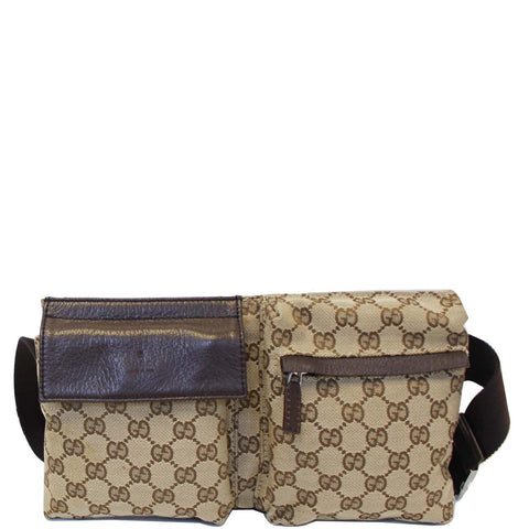 GUCCI GG Monogram Waist Bum Bag 28566 Brown