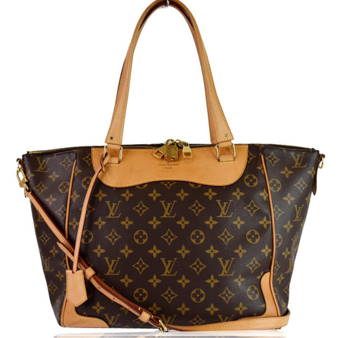 LOUIS VUITTON Estrela MM NM Monogram Canvas Shoulder Bag Brown