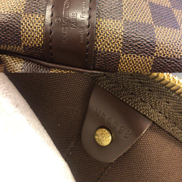 Louis Vuitton Keepall - Lv Damier Ebene Travel Bag - lv strap