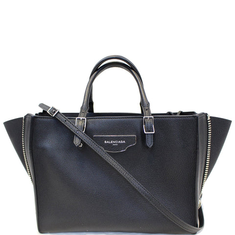 BALENCIAGA Papier A6 Calfskin Zip Around Shoulder Bag Black