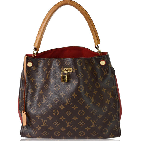 LOUIS VUITTON Gaia Monogram Canvas Shoulder Bag Brown