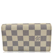LOUIS VUITTON Zippy Damier Azur Wallet White