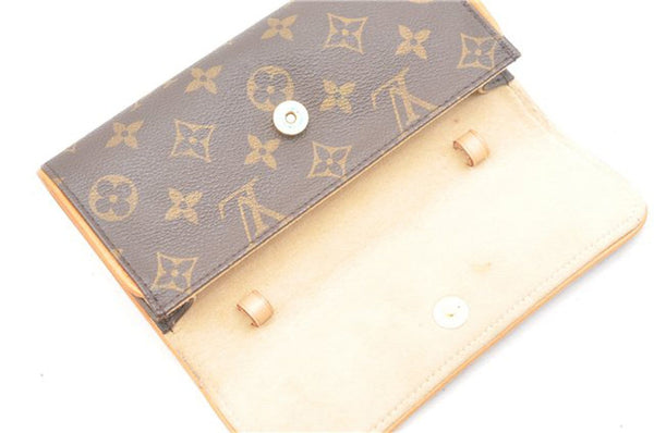 Authentic LOUIS VUITTON Monogram Canvas Pochette Twin PM Bag TT1623