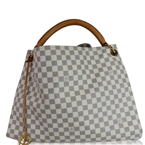 LOUIS VUITTON Artsy GM Damier Azur Shoulder Bag White