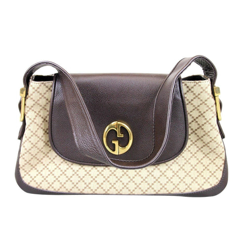 "Gucci ""1973"" Diamante Canvas Tote Handbag Shoulder Bag - Final Call"