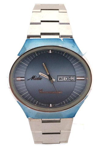 Mido Commander Automatic Blue SS Day/Date Swiss Watch