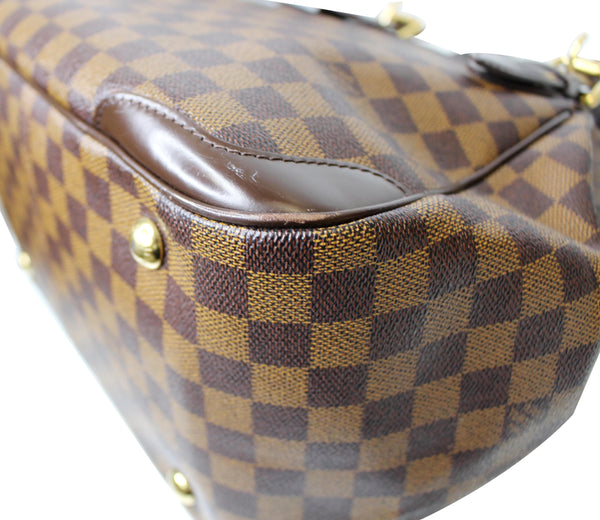 brown seams lv Verona MM Damier Ebene Satchel Bag
