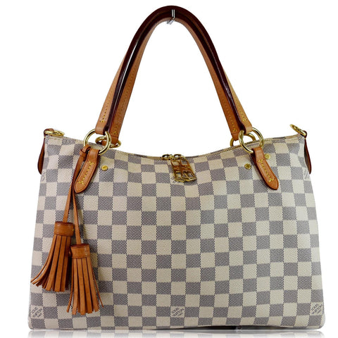 LOUIS VUITTON Lymington Damier Azur Shoulder Bag White