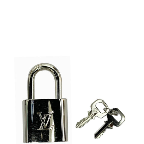 LOUIS VUITTON Padlock and 2 Keys Silver Bag Charm Number 322