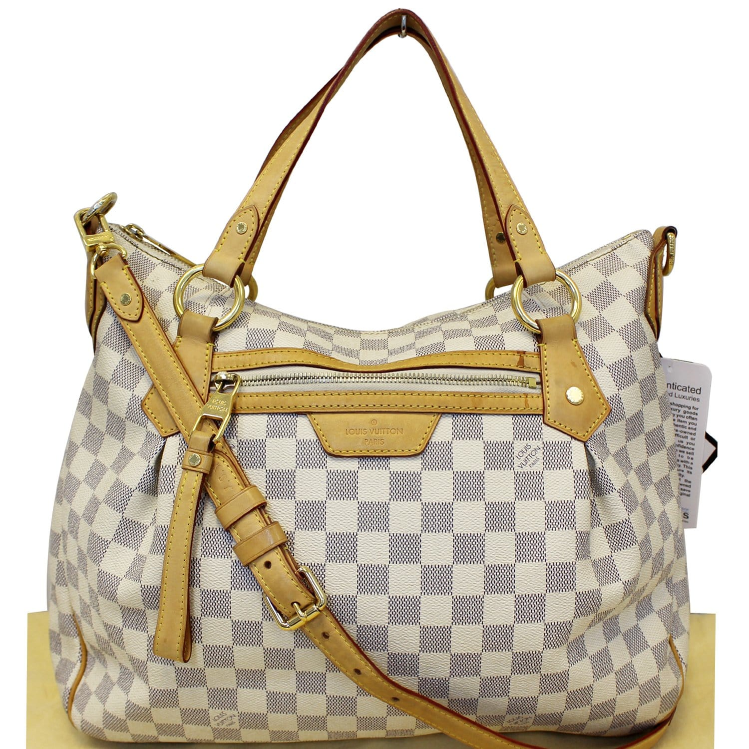 20b2b8ca6dbf LOUIS VUITTON Evora MM Damier Azur Tote Shoulder Bag-US