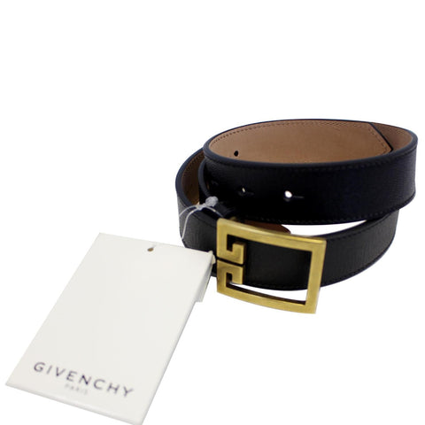 GIVENCHY Double G Logo Buckle Belt Black Size 38