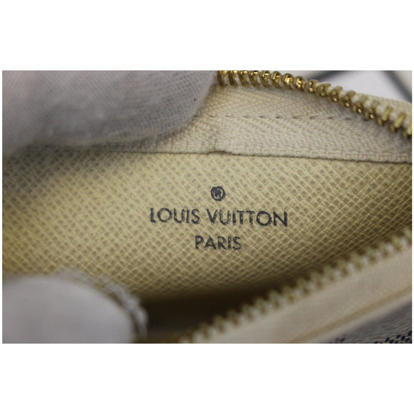 LOUIS VUITTON Pochette Key Cles Damier Azur Coin Case White