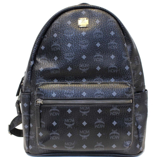 MCM Stark Classic Visetos Medium Backpack Bag Black