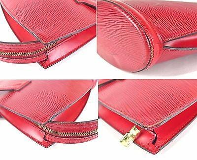 LOUIS VUITTON Red Epi Leather Saint-Jacques Purse Bag